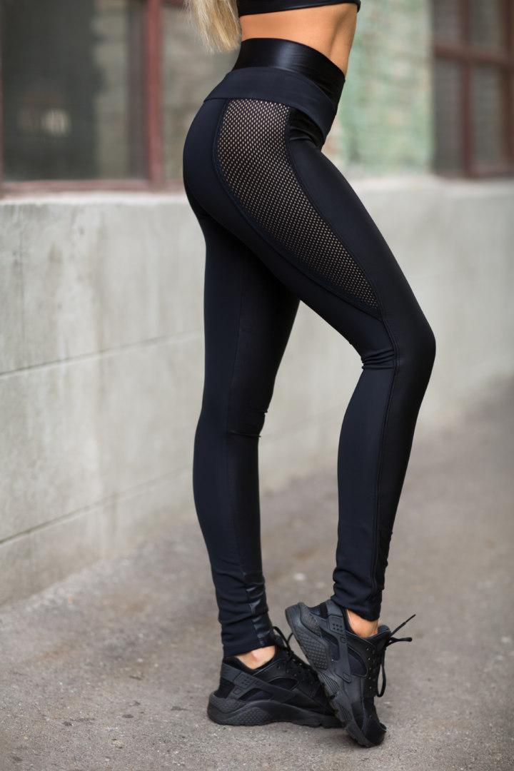 Спортивные женские леггинсы Disco Black