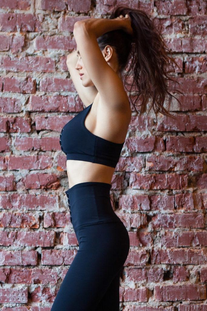 Спортивный женский топ Black Corset