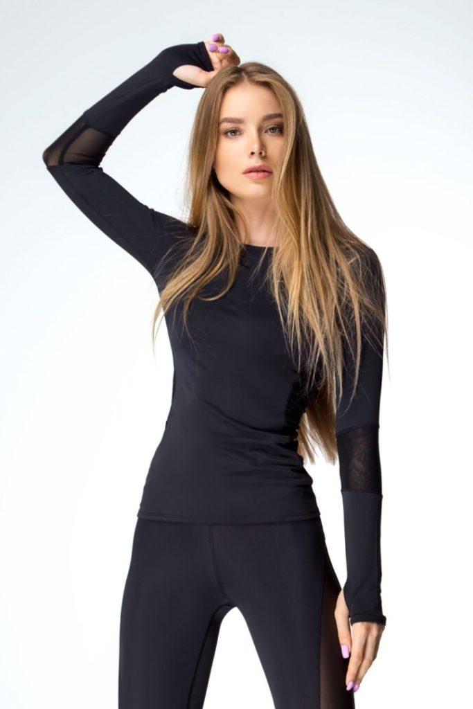 Женский рашгард Basic Black