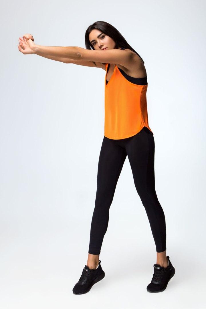 Спортивная женская майка PRO Orange