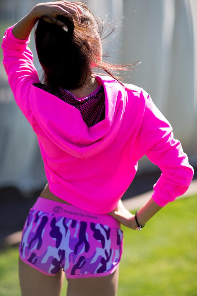 Спортивное женское худи Fuchsia