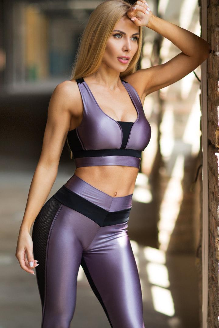 Спортивный женский комплект Disco Violet