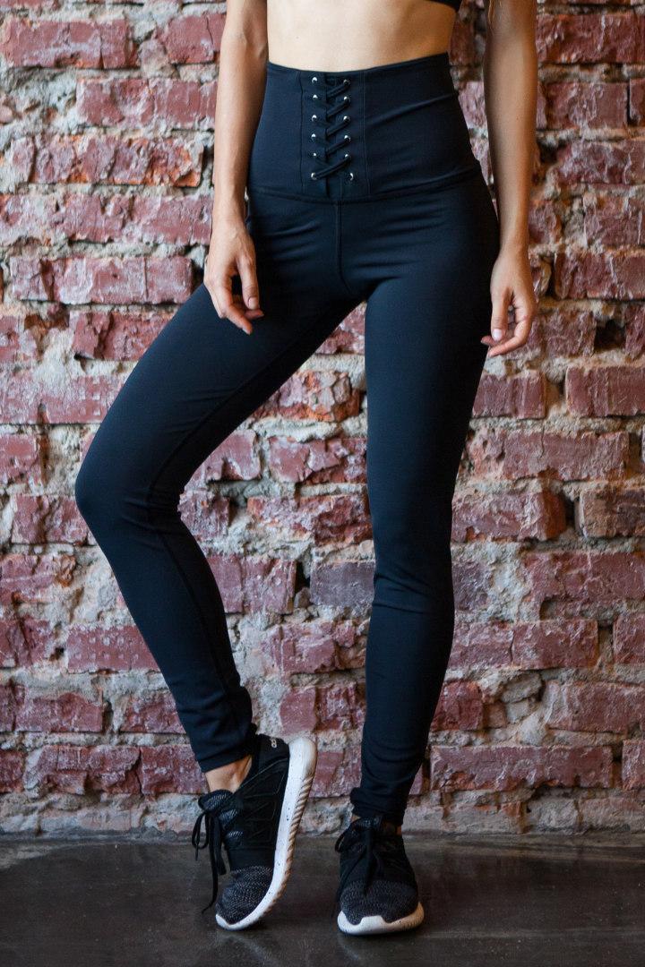 Спортивные женские леггинсы Black Corset