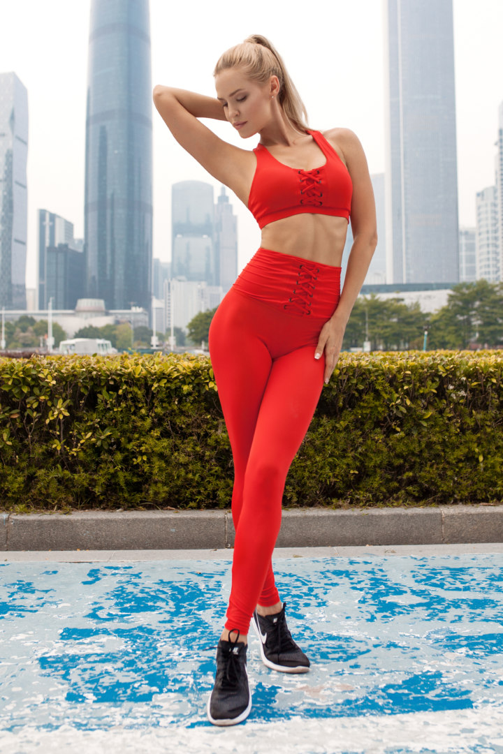Женский спортивный комплект Red Corset