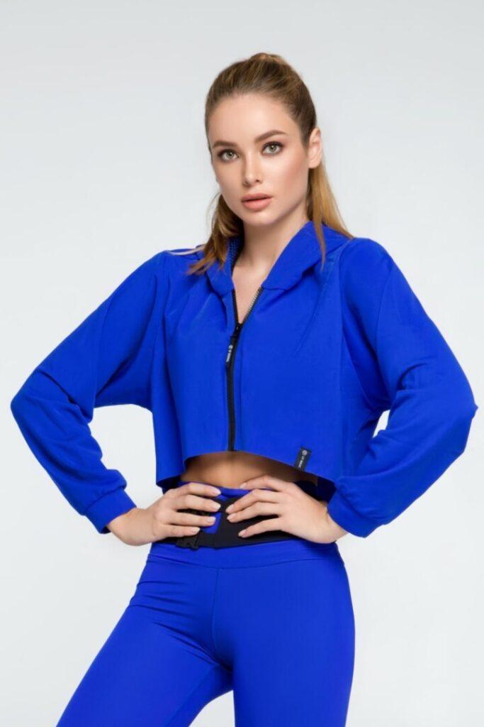 Спортивное женское худи Royal Blue
