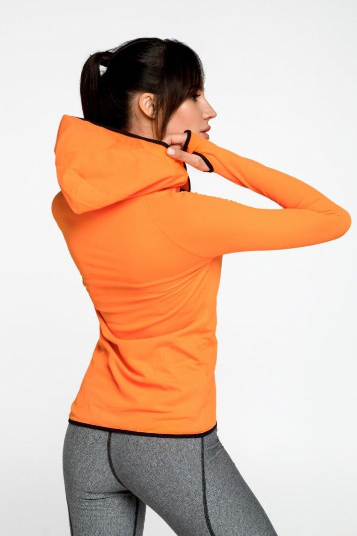 Оранжевая женская кофта, курточка спортивная