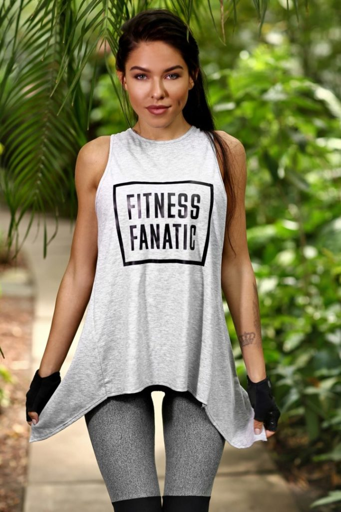 Майка Fitness Fanatic Light Grey