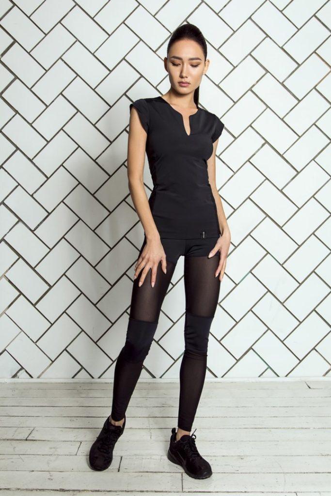 Комплект Sexy Shorts Black (Футболка и Леггинсы)