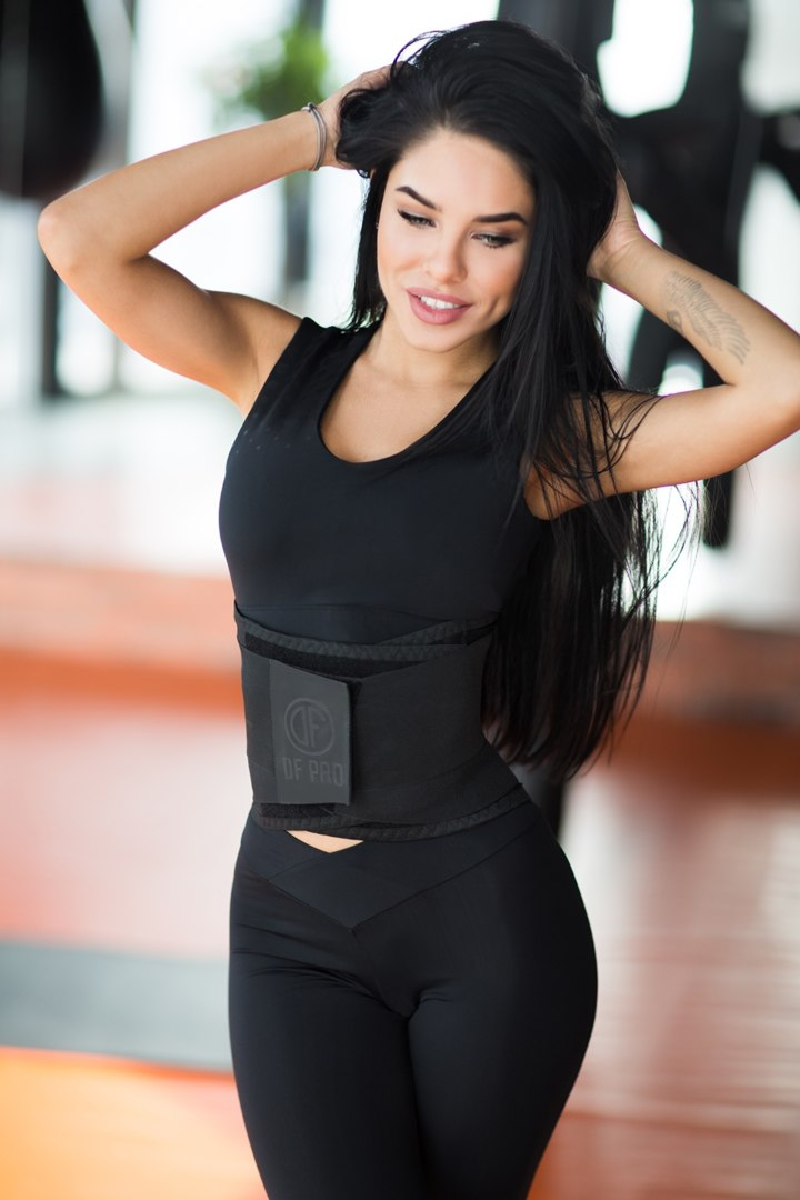 Корсетный фитнес-пояс Black