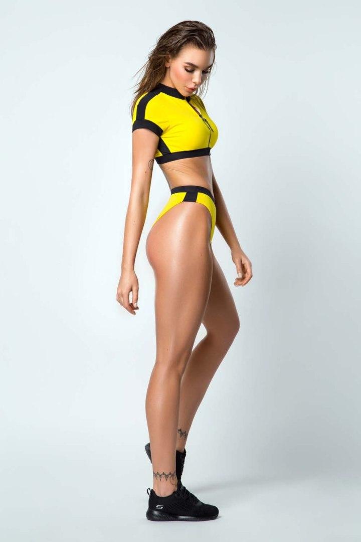Раздельный купальник Surf Girl Yellow