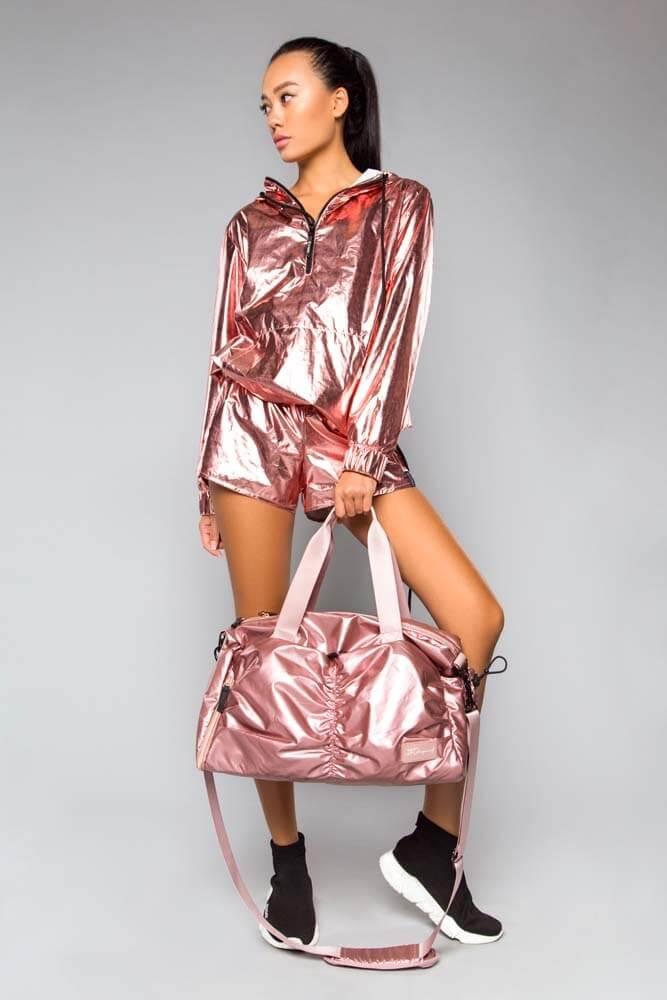 Спортивная сумка большая Glossy Rose Gold