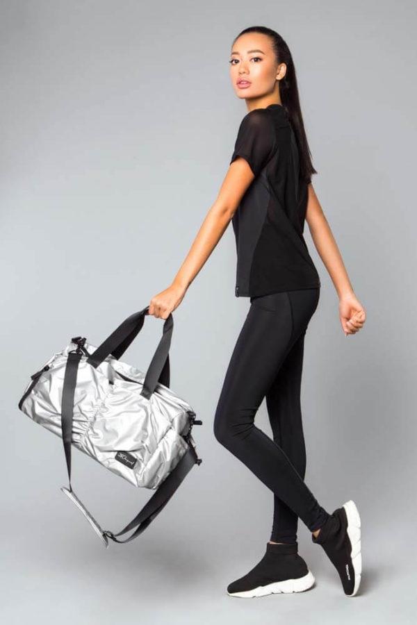 Спортивная сумка большая Glossy Silver