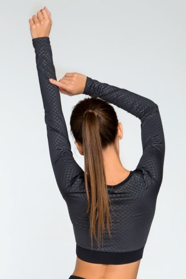 топ для фитнеса с длинным рукавом