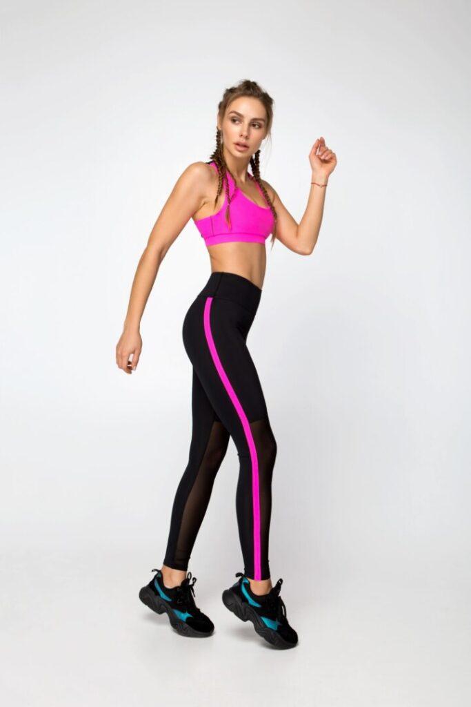 Женский спортивный комплект, лосины и топ