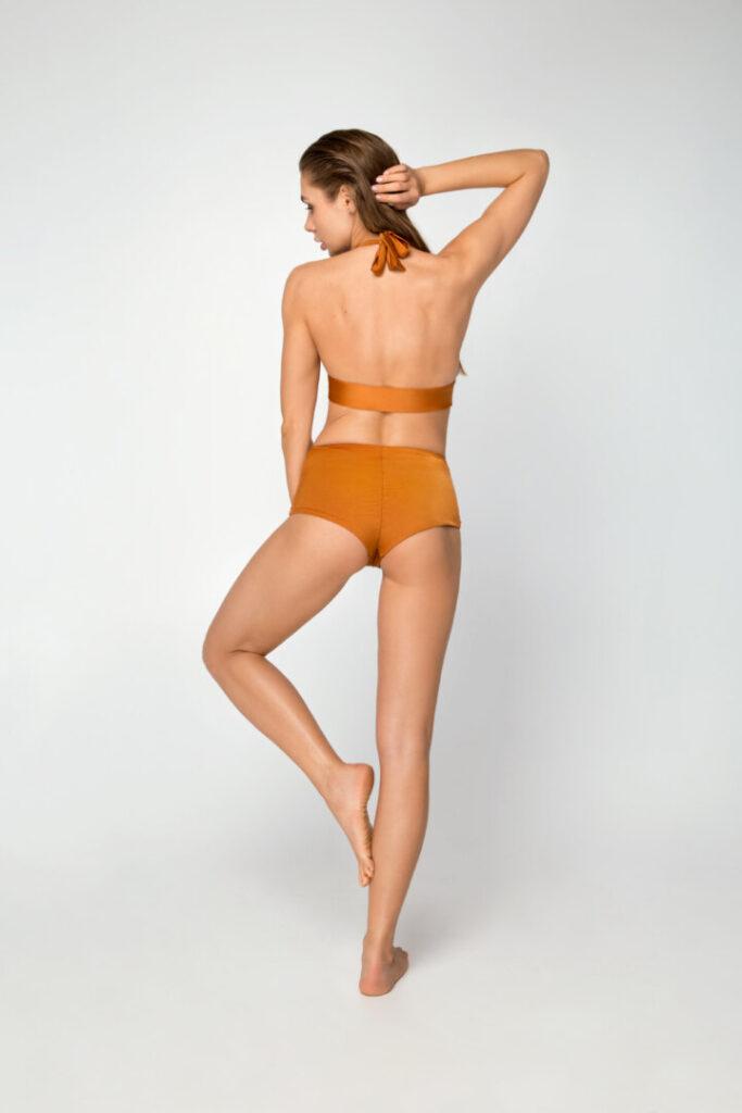 Раздельный женский купальник для бассейна и пляжа