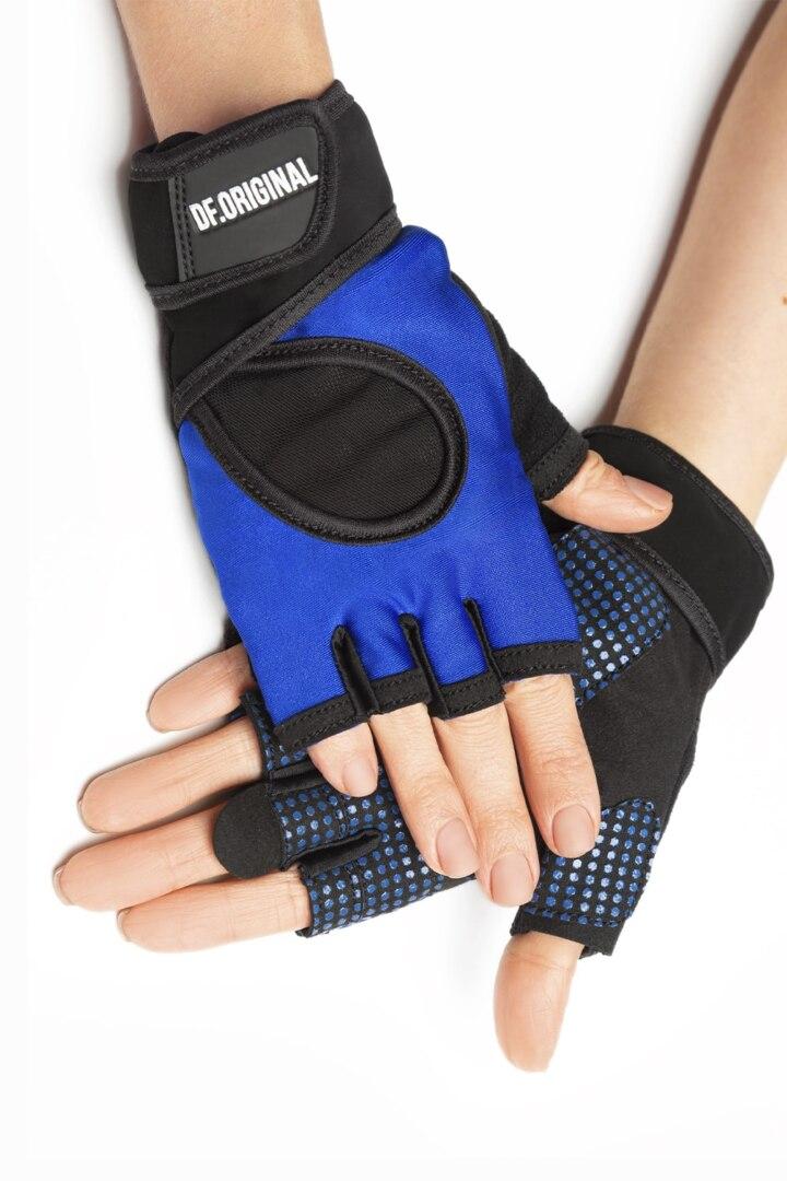 Яркие цветные удобные перчатки для фитнеса