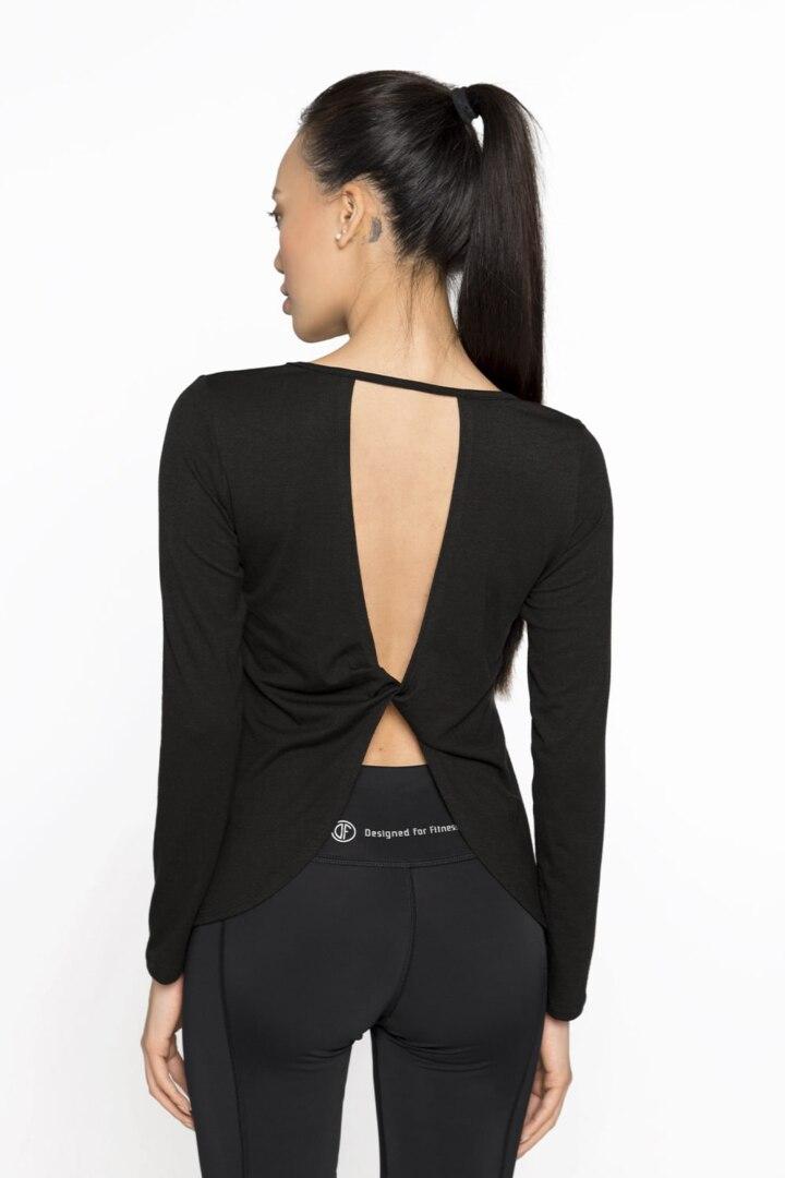 спортивный пуловер с открытой спинкой
