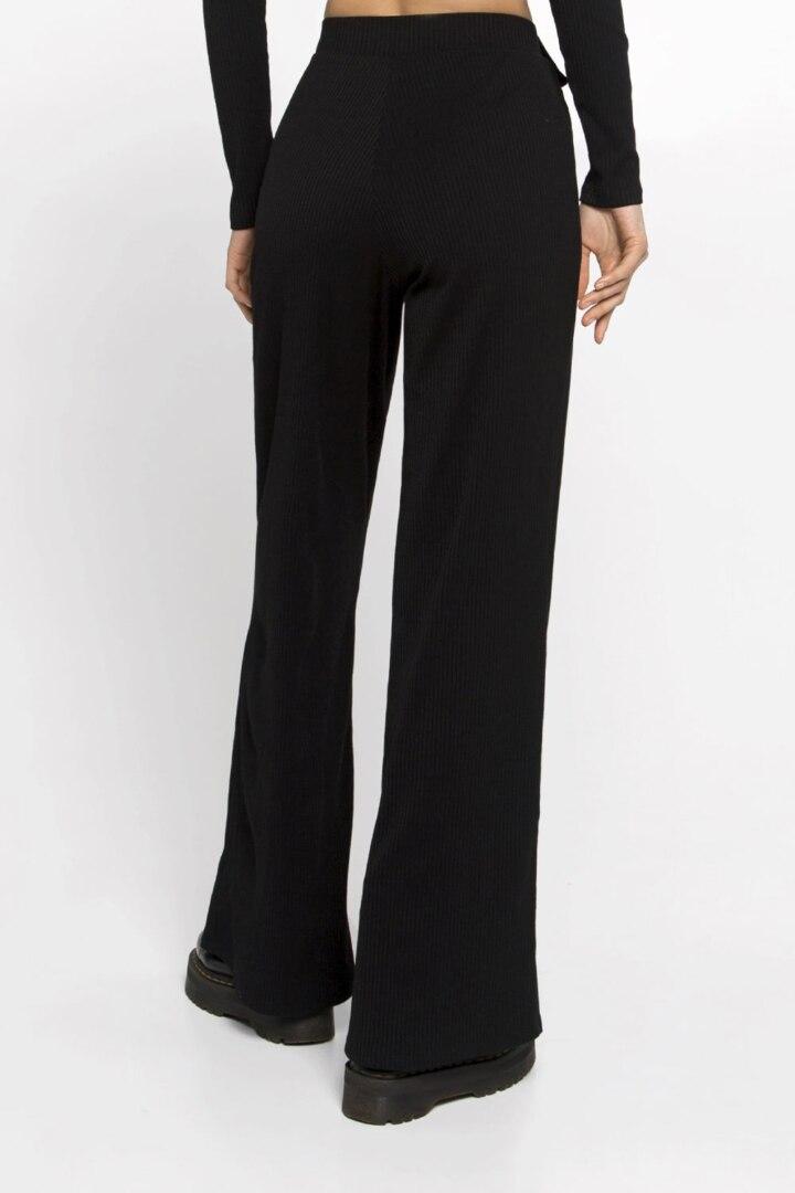 Женские черные штаны для повседневной носки