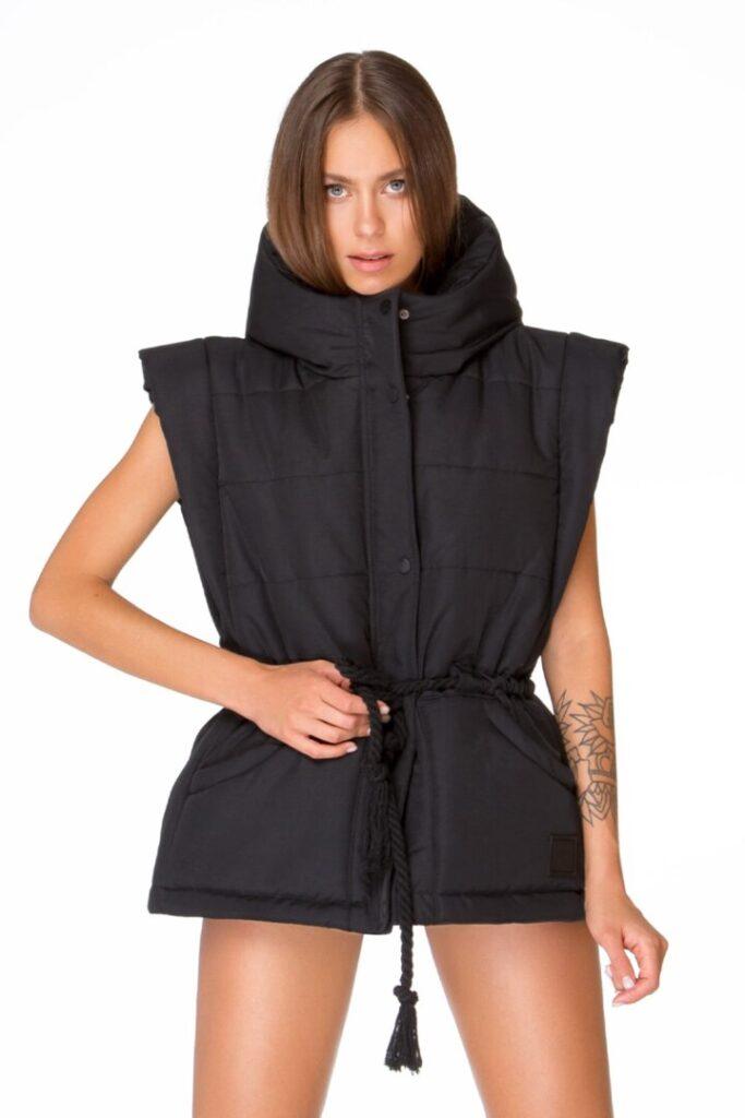 Пуффер-жилет, куртка с отстёгивающими рукавами